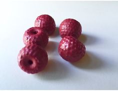 NEW Wooden play food : 5 Raspberries by BYOImagination on Etsy