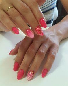 60 fun nail design 2019 012 ~ producttall com Shellac Nails, Pink Nails, Nail Polish, Nail Manicure, Short Nail Designs, Gel Nail Designs, Nails Design, Perfect Nails, Gorgeous Nails