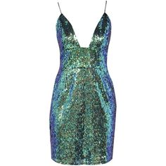 Lacey Plunge Front Sequin Mini Dress ($38) ❤ liked on Polyvore featuring dresses, sequin cocktail dresses, plunge dress, sequin embellished dress, sequined dresses and short sequin cocktail dresses