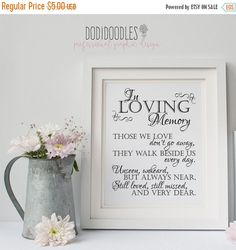 70% OFF THRU 6/25 In Loving Memory Printable Sign by dodidoodles