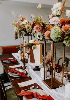 Fall Wedding Centerpieces, Boho Wedding Decorations, Wedding Reception Tables, Centerpiece Decorations, Boho Inspiration, Wedding Inspiration, Wedding Ideas, Autumn Table, Wedding Book