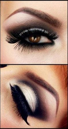 #makeup Black smokey eye. Love! <3