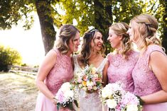 Bride + Bridesmaids. Bridesmaids, Bridesmaid Dresses, Wedding Dresses, Girls Dresses, Flower Girl Dresses, Flowers, Design, Fashion, Bridesmade Dresses