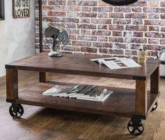 Furniture Of America Royce Modern Industrial Dark Oak Coffee Table Living Room   #coffeetable #darkoak #rustictable #home #wood
