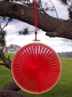 Handmade Red Light Catcher - Rustic Autumn Wedding Decor by RunawayCape, $14.50