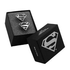 These understated #Superman #cufflinks make a great addition to business attire. Men's Fashion.