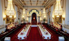 Royals open the doors to their luxurious homes and palaces Ballroom at Buckingham Palace