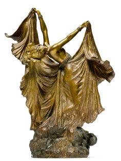 Louis Chalon, La Pieuvre, 1900, bronze - Koller Auctions - Art Nouveau & Deco