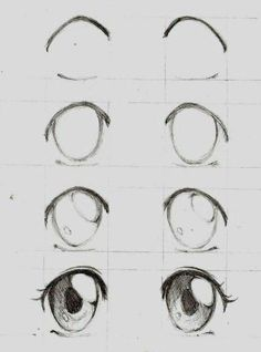 tutorial drawing pencil sketch black white girl easy step and by girl drawing easy step by step drawing tutorial black and white pencil sketchYou can find Anime eyes and more on our website Easy Anime Eyes, How To Draw Anime Eyes, Learn To Draw Anime, Art Drawings Sketches Simple, Easy Drawings, Girl Drawing Easy, Easy Eye Drawing, Eye Drawing Tutorials, Drawing Ideas