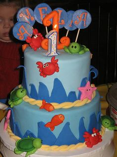 under the sea cake by amaneb34, via Flickr