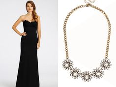 A bold necklace is an easy style addition that adds a special touch.  | TheKnot.com