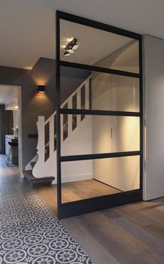 Top 30 Closet Door Concepts to Attempt to Make Your Bed Room Tidy and also Sizable Style At Home, Interior Architecture, Interior And Exterior, Glass Partition Wall, Small Room Bedroom, Bed Room, Interior Design Living Room, Home And Living, Interior Inspiration