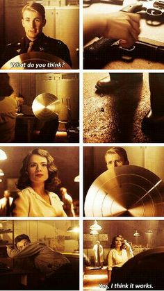 """Yes, I think it works."" Peggy Carter, Steve Rogers, and Howard Stark test the vibranium shield in Captain America: The First Avenger Steve Rogers, Agent Carter, Marvel Dc Comics, Marvel Avengers, Marvel Women, Loki Thor, Loki Laufeyson, Mundo Comic, Dc Memes"
