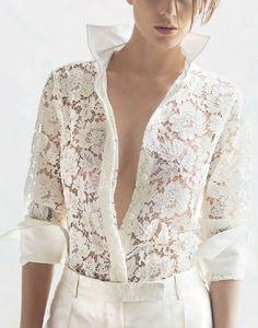 Valentino white lace....