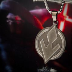 """This antique finish Sith pendant is perfect for those who gravitate toward the dark side -and just in time for """"The Rise of Skywalker"""". Head over to to pick up this gorgeous piece. Sith Symbol, Star Wars Jewelry, Star Wars Episodes, Stainless Steel Chain, Dark Side, Dog Tag Necklace, Unisex, Antique, Stars"""