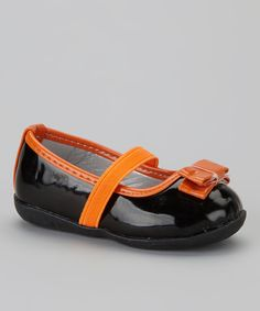 Look at this Black & Orange Flat on #zulily today!