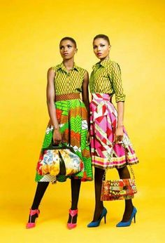 Classy, Chic & Colorful pieces. Model: Isis models agency Theme: African print aka Ankara