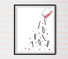i love you love print valentine's day valentine print by shooshles #art #doodle #heart #artwork #drawing #illustration #valentine's_day  #draw #drawing #valentine #valentine_print #gift_idea #forher #forhim #etsy #valentine #st_valentin #ioveyou #love  #hearts #diy #bottle #lovers #romance