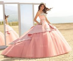 BEADED STRAPLESS QUINCEANERA DRESS BY RAGAZZA FASHION STYLE B81-381
