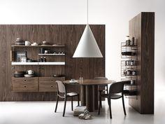 The kitchen of our dreams🖤 Built In Shelves, Metal Shelves, String System, Modular Shelving, Scandinavian Furniture, Nordic Design, Fashion Room, Beautiful Kitchens, Kitchen Furniture