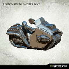 This set contains one high quality resin Legionary Breacher Bike armed with twin Thunder Guns. Designed to fit futuristic 28mm heroic scale heavy armoured troopers. As an additional parts you get biker legs and arms which you can combine with Legionaries torsos, heads, shoulder pads and backpacks sold separately.