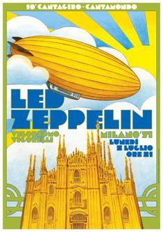LED ZEPPELIN Milan Italy 5 July 1971 retro by tarlotoys on Etsy, €10.00