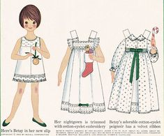 I LOVED paper dolls.  I cut out Betsy out every month from my mother's McCall's magazine.