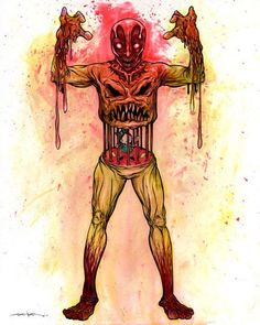 Skinned Man - By Alex Pardee. The Used, Alex Pardee, Weird Art, Underworld, Macabre, My Hero, Creepy, Cool Art, Horror