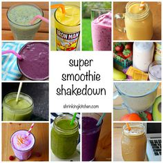 Smoothies are an easy way to supercharge your day and get in your nutrition! This Super Smoothie Roundup has 14 delish smoothie recipes!