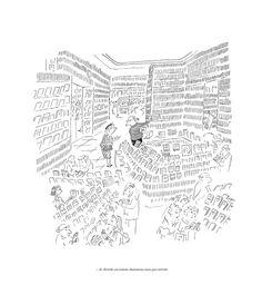 ¤ Sempé. Galerie Martine Gossieaux. 'Je cherche un roman chaleureux mais pas torride'.