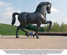 DaVinci's Horse, Il Cavallo pictured above at Frederik Meijer Gardens the scale is gigantic.This equestrian giant weighs 15 tons and is 24 feet tall.the most magnificent bronze equestrian sculpture in North America.The most amazing part is that the 15th Century horse was only created in clay by Leonardo and destroyed by the French Army when they invaded Milan,Italy in 1499 before it could be cast.His blueprints and drawings were closely followed and this masterpiece came into being in 1999…