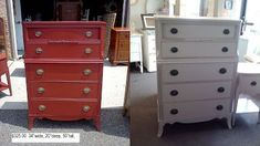 Handpainted Furniture Blog, Shabby Chic Vintage Painted Furniture: Before and After Vintage Painted Shabby Chic furniture dressers