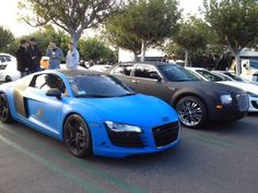 This Audi R8 was wrapped in Avery Dennison SWF Intense Blue by Protective Film Solutions!