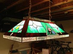 Stained Glass Pool Table Light Fixture