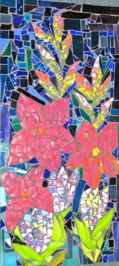 Mosaic art by kat gottke               #flowers #mosaic