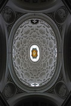 San Carlo alle Quattro Fontane - francesco Borromini - rome - interior of the dome 1667