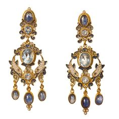 Diego Percossi Papi Blue Topaz Earrings
