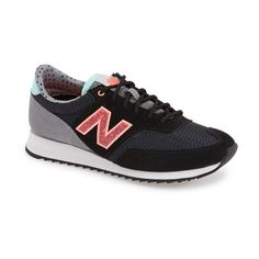 New Balance '620' Sneaker (310 ILS) ❤ liked on Polyvore featuring shoes, sneakers, suede sneakers, new balance shoes, new balance trainers, suede shoes and rubber sole shoes