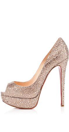 CHRISTIAN LOUBOUTIN Lady Peep Strass Pretty Shoes d3f541f6053c