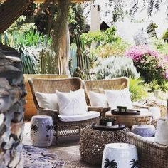 Furniture / Styling Seaside Garden, Outdoor Furniture Sets, Outdoor Decor, Interior Styling, Patio, Architecture, Balcony, Homework, Sofas