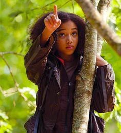 Rue from Hunger Games. One of my favorite characters. so many tears during her scene XD
