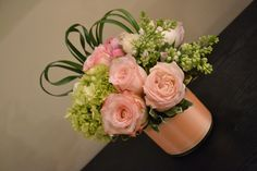 Floral arrangement by Flora Couture (pink roses)