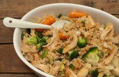 Deze rijstschotel met teriyaki-kip en Japanse groente is makkelijk om te maken en heel erg lekker. Fijn om van tevoren te maken en later op te warmen.