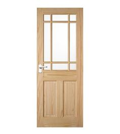 This Downham Clear Pine Glazed Door Can Be Painted, Stained Or Varnished To  Match Any Decor In Your Home. This Door Is Also Supplied With Toughened  Glass.