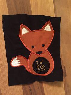Fox Embroidery, Fox Monogram, Fox Monogram Frame