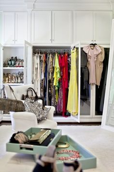 "Lubov Azria on the process of personalizing her closet: ""In the end, it wasn't a science. . . . So, I turned my attention away from the math of it all and focused on what environment I wanted to create."" #celebrity #closet"