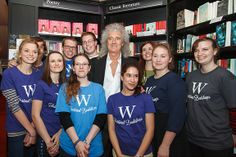 Brian May with the Waterstones crew Credit: mcphersonstevens.com