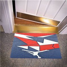 NIKE JORDAN 7 VII RED BLUE WHITE OLYMPIC BEDROOM CARPET BATH OR DOORMATS