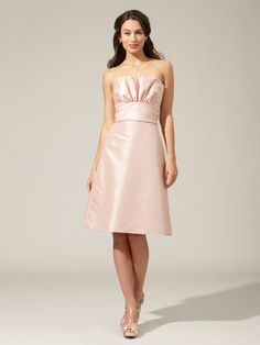 Woven Ruffle Bust Dress by Amsale. Perfect for bridesmaids.