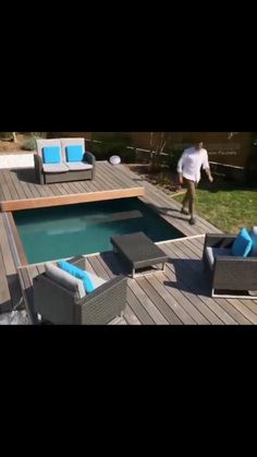House Furniture Design, Diy Garden Furniture, Home Interior Design, African Living Rooms, Swimming Pool Waterfall, Small Room Design Bedroom, Diy Home Cleaning, Backyard Water Feature, Dream House Exterior